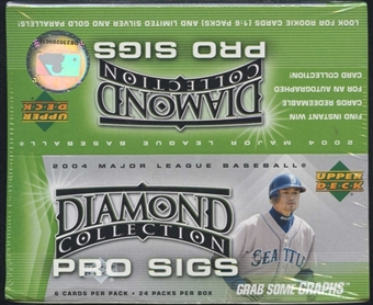 2004 Upper Deck Diamond Collection Pro Sigs Baseball 24 Pack Box