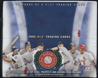 2005 Fleer Patchworks Baseball 24 Pack Box (Upper Deck)