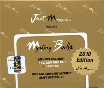 2010 Just Minors Mystery Balls Baseball Hobby Box