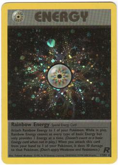 Pokemon Team Rocket Single Rainbow Energy 17/82