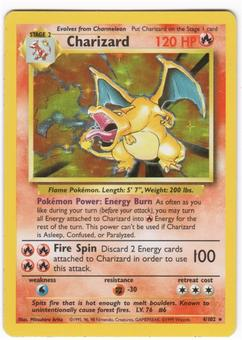 Pokemon Base Set 1 Single Charizard 4/102 - MINT