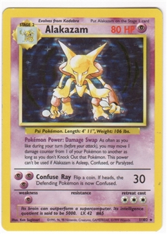 Pokemon Base Set 1 Single Alakazam 1/102 - NEAR MINT (NM)