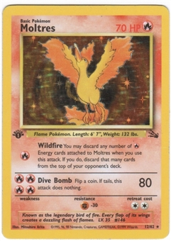 Pokemon Fossil 1st Edition Single Moltres 12/62