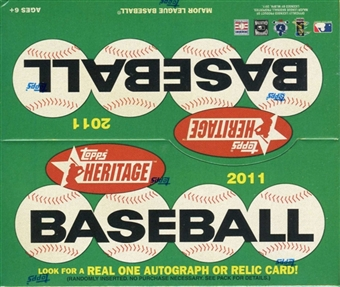 2011 Topps Heritage Baseball 24-Pack Box
