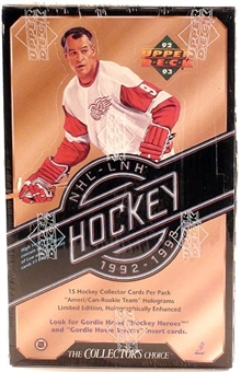 1992/93 Upper Deck Series 2 Hockey Hobby Box
