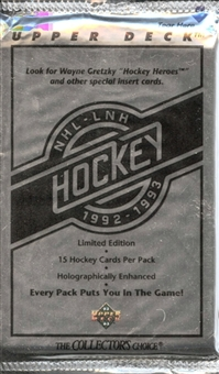 1992/93 Upper Deck Series 1 Hockey 36 Pack Lot