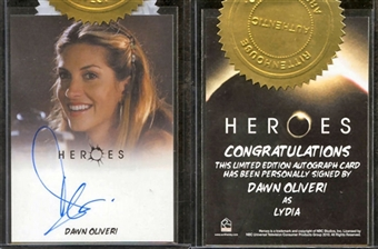 2010 Rittenhouse Heroes Archives Autographs #11A Dawn Oliveri as Lydia (with hair clip)