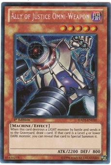 Yu-Gi-Oh Hidden Arsenal 3 Single Ally of Justice Omni Weapon Secret Rare 3x Lot