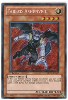Yu-Gi-Oh Hidden Arsenal 3 Single Fabled Ashenveil Secret Rare 3x Lot