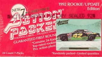 1992 Action Packed Rookie/Update Football Hobby Box