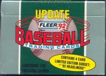 1992 Fleer Update Baseball Factory Set