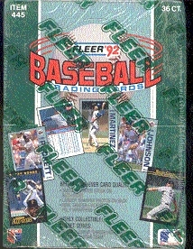 1992 Fleer Baseball Wax Box
