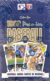 1992 O-Pee-Chee Premier Baseball Wax Box