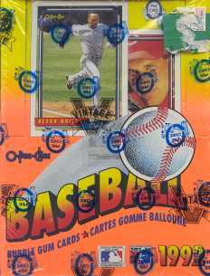 1992 O-Pee-Chee Baseball Wax Box