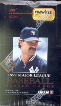 1992 Pinnacle Superpak Series 1 Baseball Hobby Box
