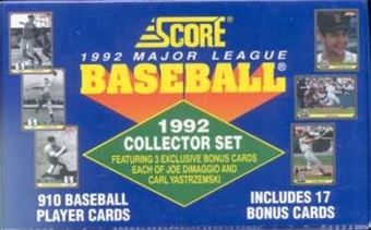 1992 Score Baseball Factory Set