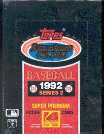 1992 Topps Stadium Club Series 2 Baseball Wax Box
