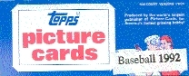 1992 Topps Baseball Vending Box