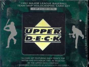 1992 Upper Deck Team MVP Holographic Baseball Factory Set