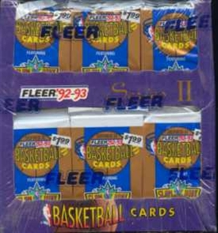 1992/93 Fleer Series 2 Basketball Jumbo Box