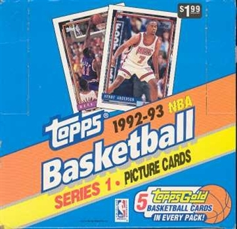 1992/93 Topps Series 1 Basketball Jumbo Box