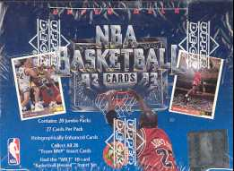 1992/93 Upper Deck Low # Basketball Jumbo Box