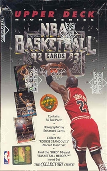 1992/93 Upper Deck Hi # Basketball 36 Pack Box