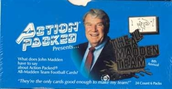 1992 Action Packed All-Madden Football Hobby Box