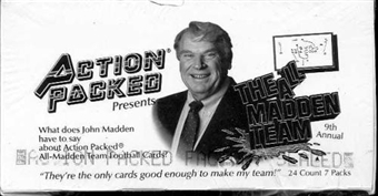 1991 Action Packed All-Madden Football Hobby Box