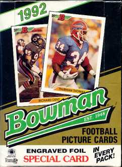 1992 Bowman Football Hobby Box