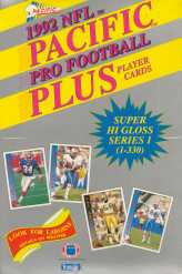 1992 Pacific Plus Series 1 Football Wax Box