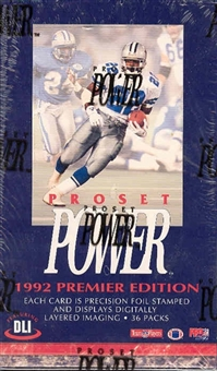 1992 Pro Set Power Football Hobby Box