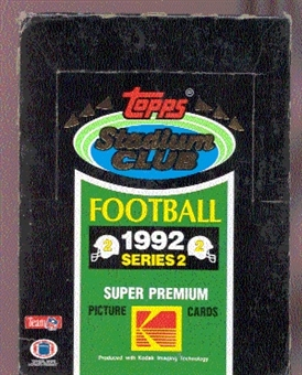1992 Topps Stadium Club Series 2 Football Hobby Box
