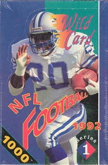 1992 Wild Card Series 1 Football Hobby Box