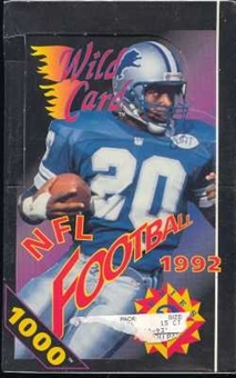 1992 Wild Card Series 2 Football Hobby Box