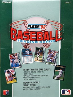 1992 Fleer Baseball Rack Box