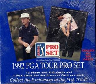 1992 Pro Set Golf Wax Box