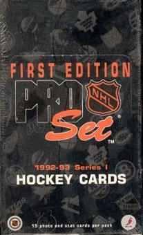 1992/93 Pro Set Series 1 Hockey Hobby Box