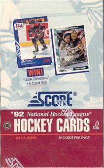 1992/93 Score Hockey Wax Box