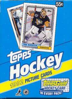 1992/93 Topps Hockey Wax Box