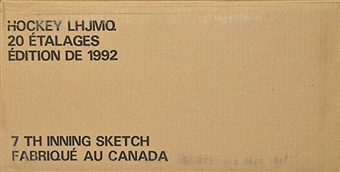 1991/92 7th Inning Sketch LHJMQ Tomorrows Stars Today Hockey Hobby 20 Box Case