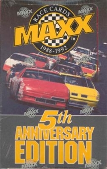 1992 J.R. Maxx Inc. Maxx 5th Anniversary Edition Racing Hobby Box - Red Box