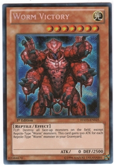 Yu-Gi-Oh Hidden Arsenal 3 Single Worm Victory Secret Rare