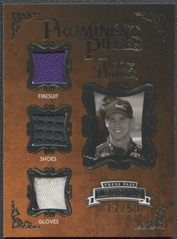 2009 Press Pass Legends Prominent Pieces Silver #PPDH Denny Hamlin 17/50