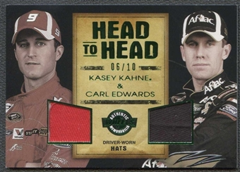 2010 Wheels Main Event Head to Head Holofoil #HHKKCE Kasey Kahne Carl Edwards 6/10