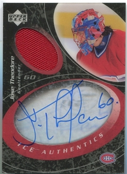 2003/04 Upper Deck Ice Authentics #IATH Jose Theodore Auto Jersey