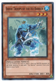 Yu-Gi-Oh Hidden Arsenal 3 Single Shock Troops of the Ice Barrier Super Rare 3x