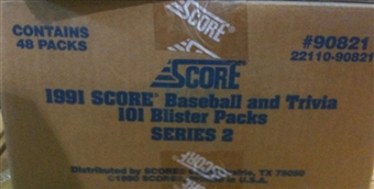 1991 Score Baseball Series 2 Blister 48 Pack Case