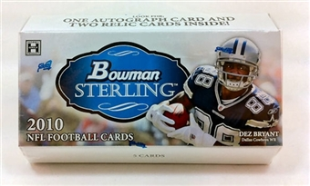 2010 Bowman Sterling Football Hobby Pack