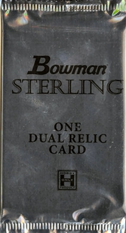 2010 Bowman Sterling Football Hobby Dual Relic Topper Pack